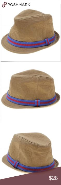 American Eagle AEO Brown Twill Fedora Bucket Hat 0abfe9f20766