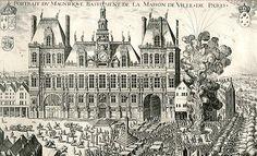 Hôtel de ville de Paris (RENAISSANCE FR : En 1530 François Ier charge un architecte italien de réaliser projet de l'hôtel de villle de Paris, achevé sous Louis XIII)