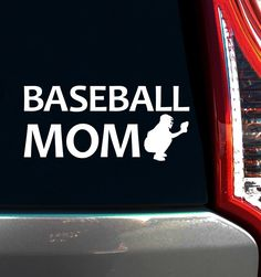 Baseball Mom Catcher Window Decal. Put a baseball mom decal on your car to inspire your catcher for every game.
