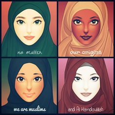 No matter where you are..Your skin colours..Since there's no racism in Islam..We are brothers and sisters