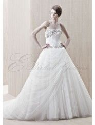 Tulle Strapless Sweetheart A-line Wedding Dress