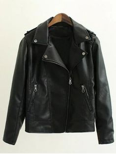 GET $50 NOW | Join RoseGal: Get YOUR $50 NOW!http://www.rosegal.com/plus-size-outerwear/zippers-embellished-pu-leather-jacket-777558.html?seid=6969076rg777558