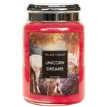 Village Candle Unicorn Dreams Scented Premium Fantasy Jar Candles Home Fragrance Soy Wax Candles, Candle Jars, Dream Jar, Candle Magic, Candels, Unicorn, Fragrance, Merry, Fantasy