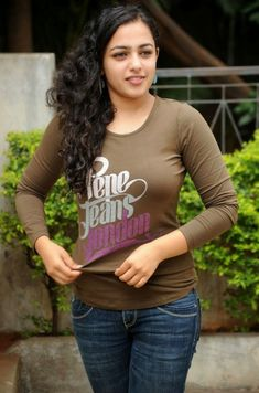 Bollywood Actresses Pictures Photos Images: South Indian Actress Nithya Menon in Tight T Shirt Photos Beautiful Girl Indian, Most Beautiful Indian Actress, Beautiful Girl Image, Beautiful Saree, Beautiful Children, Beautiful People, Indian Film Actress, South Indian Actress, Indian Actresses