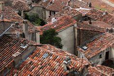 Tiled roofs in Fayence, Var, France.