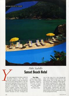 "25 Years of ""Room with a View"" Photos : Condé Nast Traveler::  THE VILLA  MAHÉ, SEYCHELLES  April 1992"