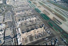 LAX overview of the South Side [Nikon D4S] - Photo taken at Los Angeles - International (LAX / KLAX) in California, USA on February 18, 2015.