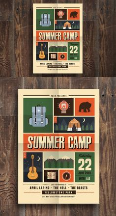 Indie Summer Camp Flyer. Flyer Templates
