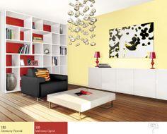 pokój dzienny wkolorze żółtym