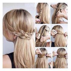 Corona de trenzas en la nuca. | 16 Peinados que parecen profesionales pero te tomarán menos de diez minutos