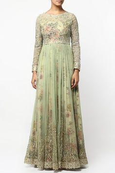 Green floral print layered anarkali set.  #carma #shopitatcarma #carmaloves #instadaily #fashiondaily #fashionupdates #instafollow #luxury #floral #indianfashion #musthave #sagegarden #diwaliedit #diwalispecial #ethnic #kurtasets #anarkalis #getthislook #shopping #shopnow #onlineshopping #festive #elegant #madetoorderdress #cotton #greenanarkali #floarlanarkali #anarkalionline