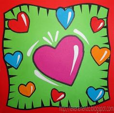 Burton Morris Hearts - valentine's day art use FELT