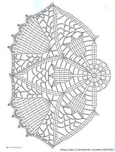 Ideas For Crochet Patrones Ganchillo - Diy Crafts - DIY & Crafts Crochet Dollies, Crochet Art, Thread Crochet, Crochet Flowers, Crochet Stitches, Crochet Doily Diagram, Crochet Edging Patterns, Crochet Motif, Crochet Designs