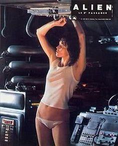 Sigourney Weaver On set of Alien, 1979 Science Fiction, Fiction Movies, Sci Fi Movies, Alien Film, Alien 1979, Pet Sematary, Aliens Movie, Ridley Scott, Space Girl