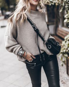 2019 Womens Designer Inspired Wool High Neck Jumper Trousers  Suit Knitwear