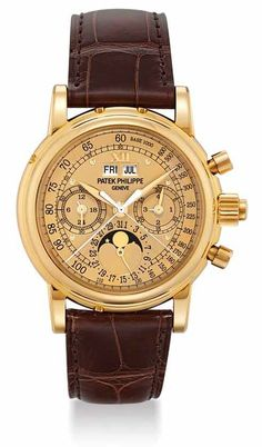 Patek Philippe - Grand complications, ref.5004J - Manual-winding, cal.CHR 27-70Q, 2.5Hz, 60hr p.r., chronograph rattrapante, perpetual calendar - 36.7mm, yellow gold case, gold dial ~180k