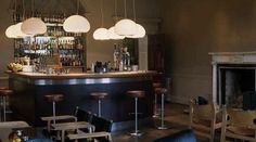 bar area babington house - Google Search