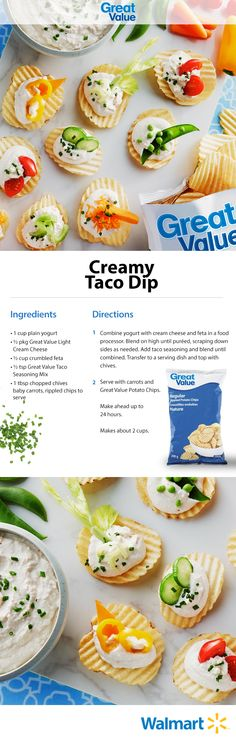 This dip is next-level. The secret? Great Value taco seasoning! #makesummergreat