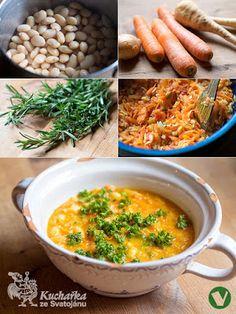 Kuchařka ze Svatojánu: FAZOLOVÁ POLÉVKA Czech Recipes, Ethnic Recipes, Tempeh, Curry, Menu, Baking, Vegetables, Soups, Czech Food