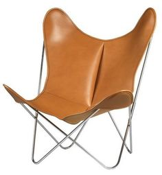Charmant AA Butterfly Armchair   Leather / Chromed Structure Chromed Frame / Brown  Leather By AA New Design   Design Furniture And Decoration With Made In  Design