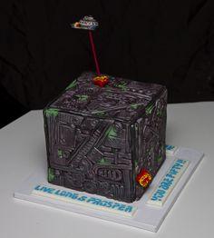star trek cakes   Star Trek - Borg & Enterprise Cake   Flickr - Photo Sharing!