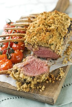 Maple Syrup & Dijon herb Crusted Rack of Lamb.