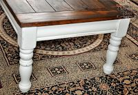 Coffee Table Redo; possibly with cream paint instead of white