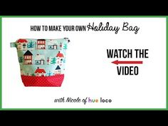 How To Make Your Own Holiday Bag - YouTube