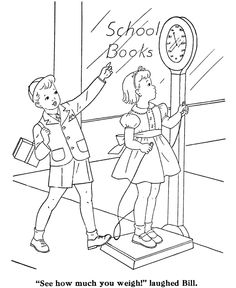 Coloring pages for kids show the different activities that you might ...