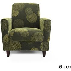 Enzo Accent Chair Sunflower ($215) ❤ liked on Polyvore featuring home, furniture, chairs, accent chairs, green, green furniture, contemporary chairs, green chair, colored furniture and contemporary accent chairs