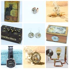 Time Design, Cyberpunk, Steampunk, Decorative Boxes, Etsy Seller, Unique, Creative, Decorative Storage Boxes