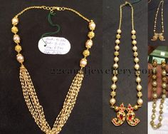 Jewellery Designs: Light Weight Pearls Beads Jewelry