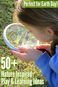 50 Nature Inspired Play and Learning Ideas for Earth Day Outside Activities, Earth Day Activities, Nature Activities, Fun Activities For Kids, Educational Activities, Learning Activities, Outdoor Activities, Kids Learning, Spring Activities
