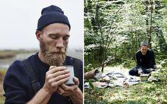 Mikkel Karstad in forest