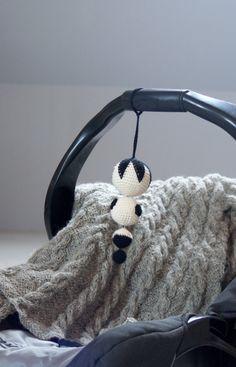 Baby car seat toy Crochet Stroller Toy Baby by YarnBallStories