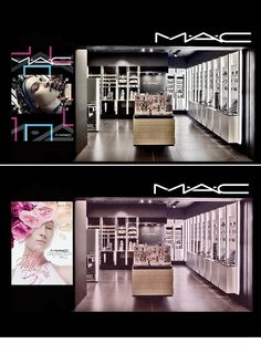 837a38ddc0d This Mac Cosmetics store layout is futuristic, modern, and sleek. The spot  light lighting illuminates the products on the shelves, allowing customers  to ...