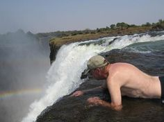 Don't try this at home - Devil's Pool in Zambia, Africa