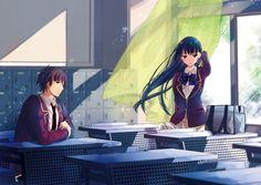 ayanokoji_kiyotaka horikita_suzune seifuku youkoso_jitsuryoku_shijou_shugi_no_kyoushitsu_e yu-yu_(devi-cra) Happy Pictures, Girl Pictures, All Anime, Anime Art, Anime Classroom, Manga Couple, Kawaii Anime Girl, Anime Girls, Anime Scenery