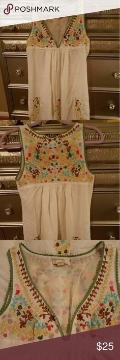 Beautiful Embroidery  Dress XS Innocent embroidered dress from Forever XXI Beautiful details and quality  🌾🌵🌾🌵🌾🌵🌾🌵🌾🌵🌾🌵🌾🌵 Forever 21 Dresses Mini