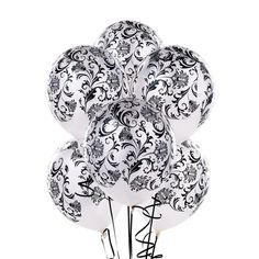 Check out Damask Pearl White Latex Balloons from Birthday In A Box