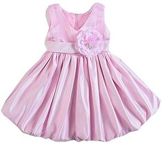 Shiny Toddler Little girls V Neck Flowers Girl Brithday Party Dress 4T * Learn more by visiting the image link.