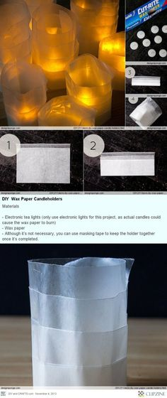 Dorm DIY: Wax Paper Candle holders