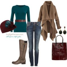 Autumn Style Featuring the Naturalizer Juletta Boot by bridgetteraes, via Polyvore