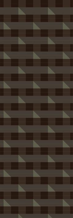 Custom printed Tartan wallpaper from the 'ASPHALT' colour range #tartan #wallpaper #muurgraphics