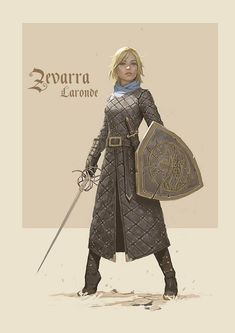 My D&D character Zevarra Laronde, brought to life by artist Bob Kehl - Imgur