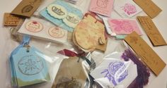 Grab Bag Of Tags and Stickers Over 100 pieces by LazyDayCottage