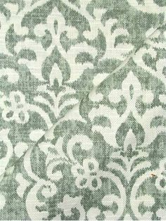 "Salisbury 20 Mint - Jennifer Adams Home Fabric - Heavy slubby basket fabric with washed ikat print. Beautiful fabric for window treatments, furniture upholstery or top of the bed. Content; 55% linen / 30% viscose / 15% cotton. Repeat; V 18"" x H 17.5"". 54"" wide. Durable 12,000 double rubs. Please note; 10 Yard minimum."