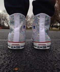 Bedazzled converseHigh top  by CreationzForHim on Etsy, $185.00