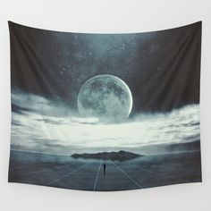 Nowhere Wall Tapestry. #landscape #nature #digital #space