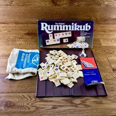 VERY Rare Vintage Genuine The Original Rummikub Brown Box lemada games tiles Snack Recipes, Snacks, Pop Tarts, Tiles, The Originals, Box, Vintage, Tapas Food, Wall Tiles